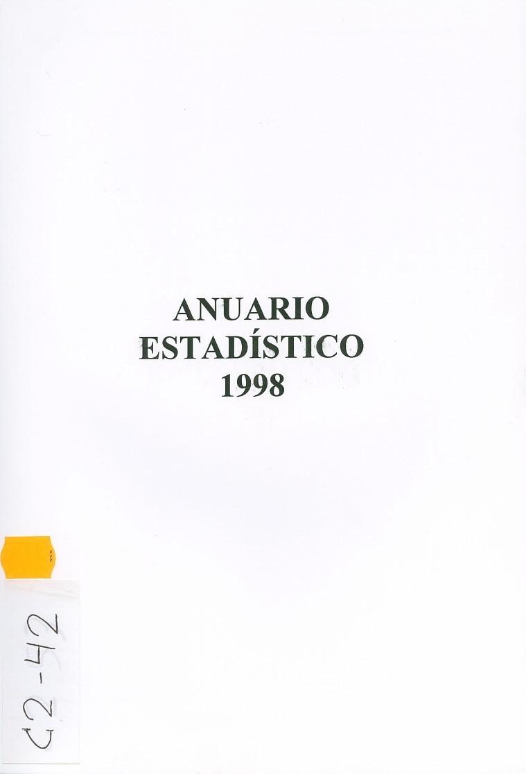 Anuario Estadístico de Lanzarote 1998