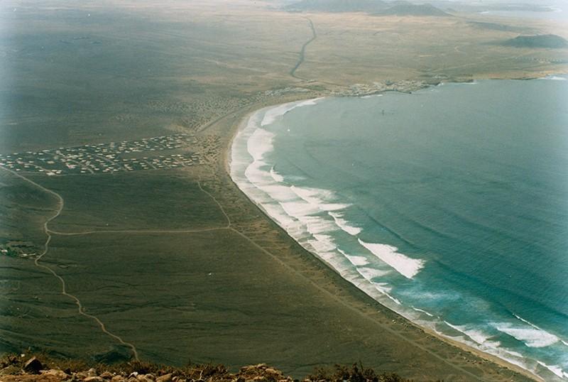 Vista aérea de Famara