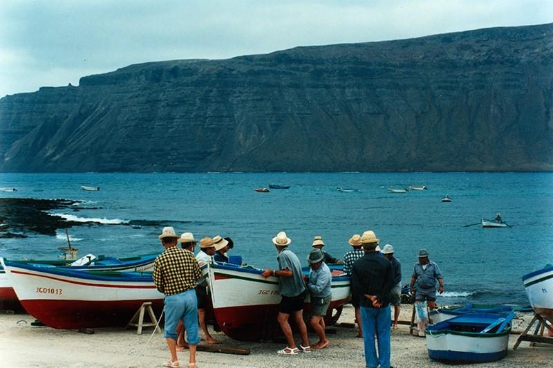Pescadores en La Graciosa