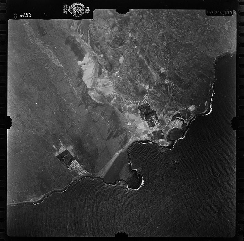 Fotografía aérea de Costa Teguise en 1955 I