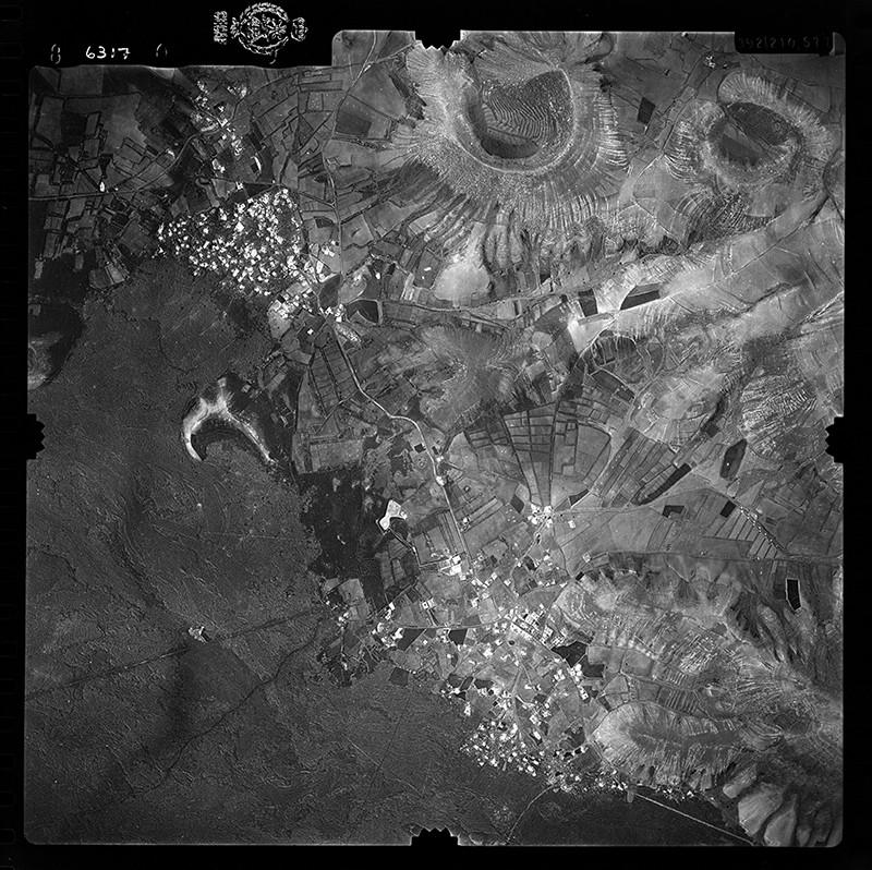 Fotografía aérea de Yaiza y Uga en 1955 I