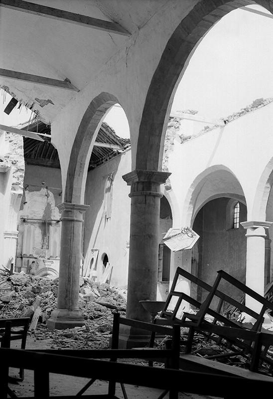 Derrumbe de la iglesia de Haría II