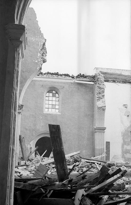 Derrumbe de la iglesia de Haría V