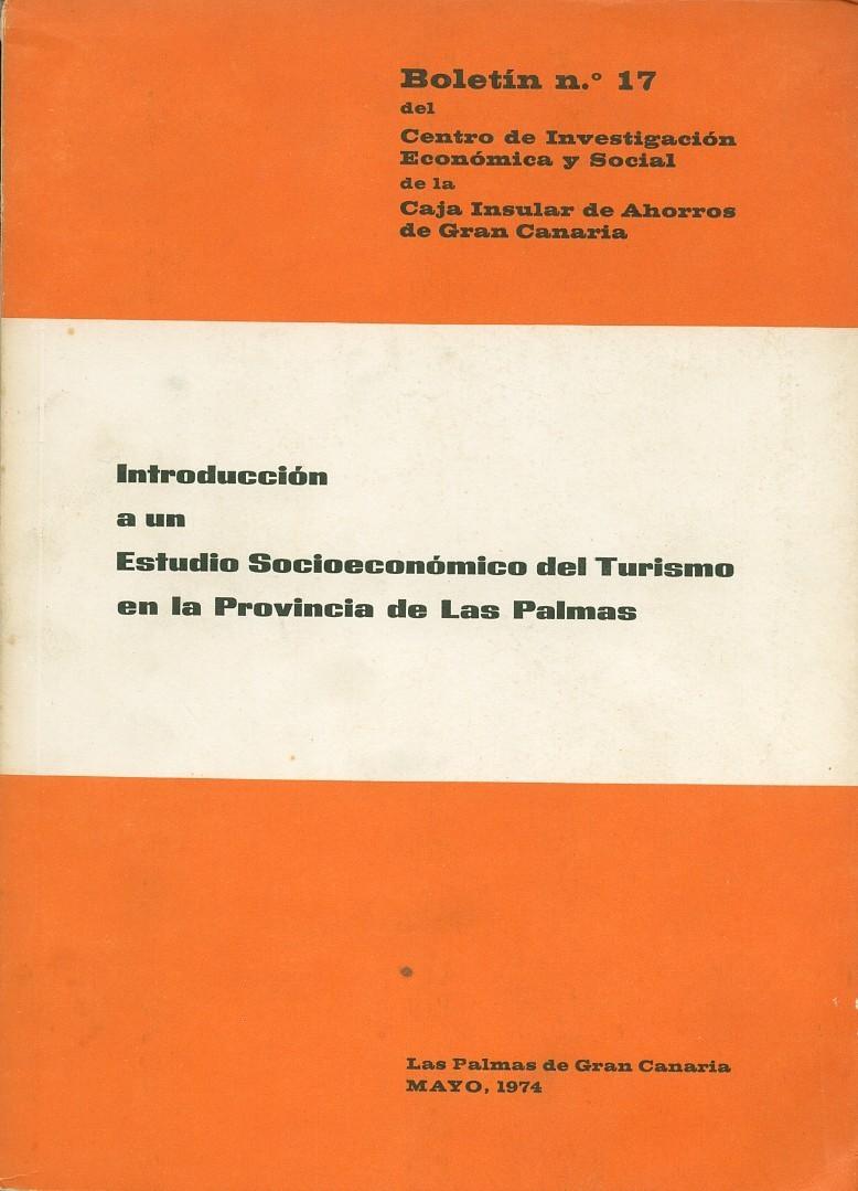 Introducción a un estudio socioeconómico del turismo en la provincia de Las Palmas