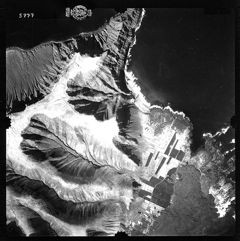 Fotografía aérea de Órzola en 1954 III