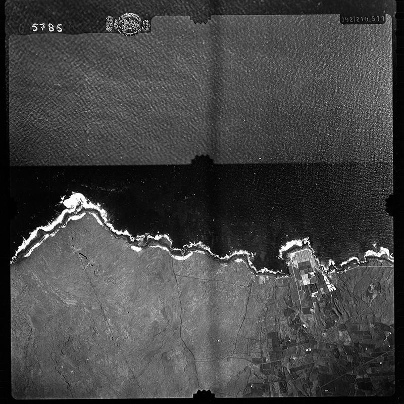 Fotografía aérea de Punta Mujeres en 1954 I