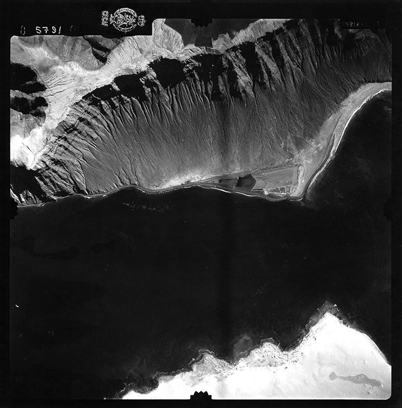 Fotografía aérea de Caleta de Sebo en 1954 I