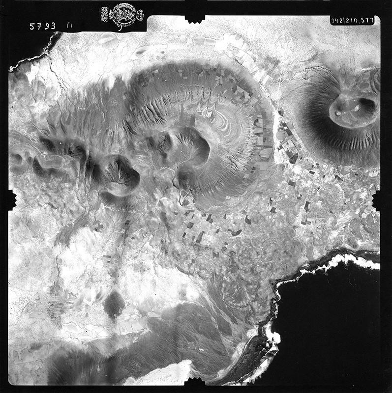 Fotografía aérea de La Graciosa en 1954