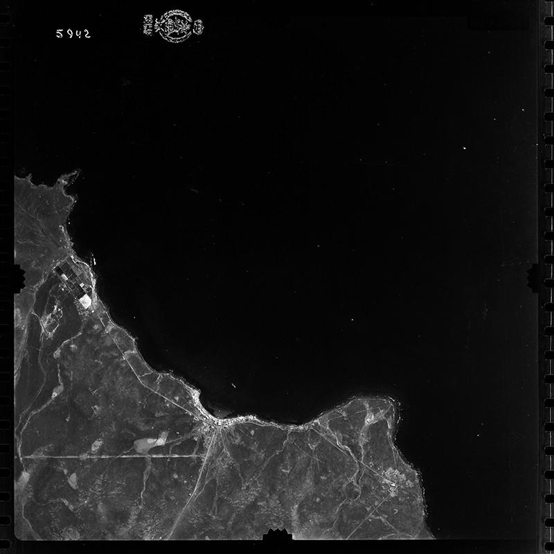 Fotografía aérea de Playa Blanca en 1954 I