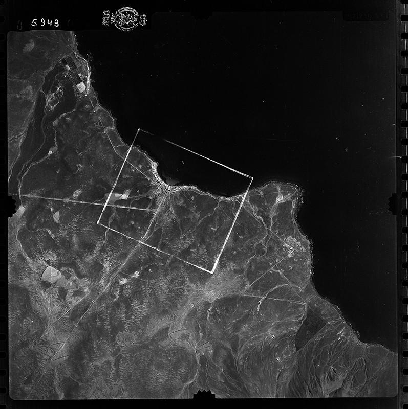 Fotografía aérea de Playa Blanca en 1954 II