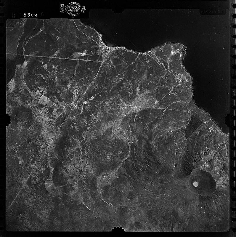 Fotografía aérea de Pechiguera y Playa Blanca en 1954
