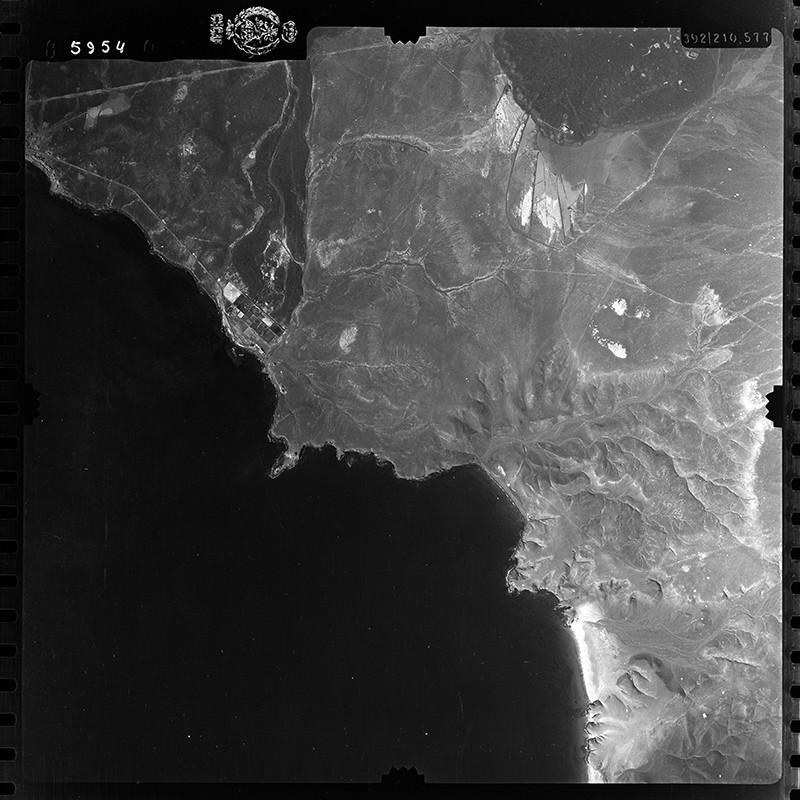 Fotografía aérea de Playa Blanca y Papagayo  en 1954