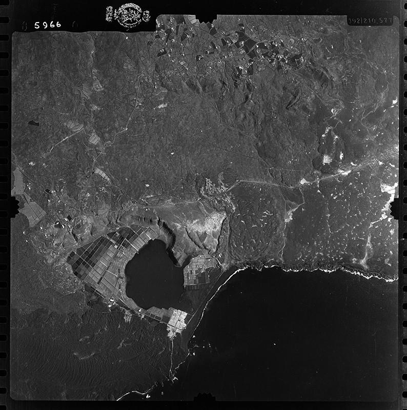 Fotografía aérea de Las Breñas y Janubio en 1954 II