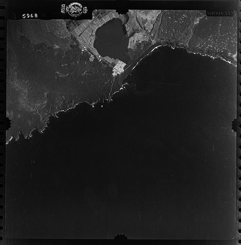 Fotografía aérea de las Salinas de Janubio en 1954 II