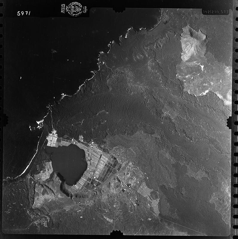 Fotografía aérea de las Salinas de Janubio en 1954 III