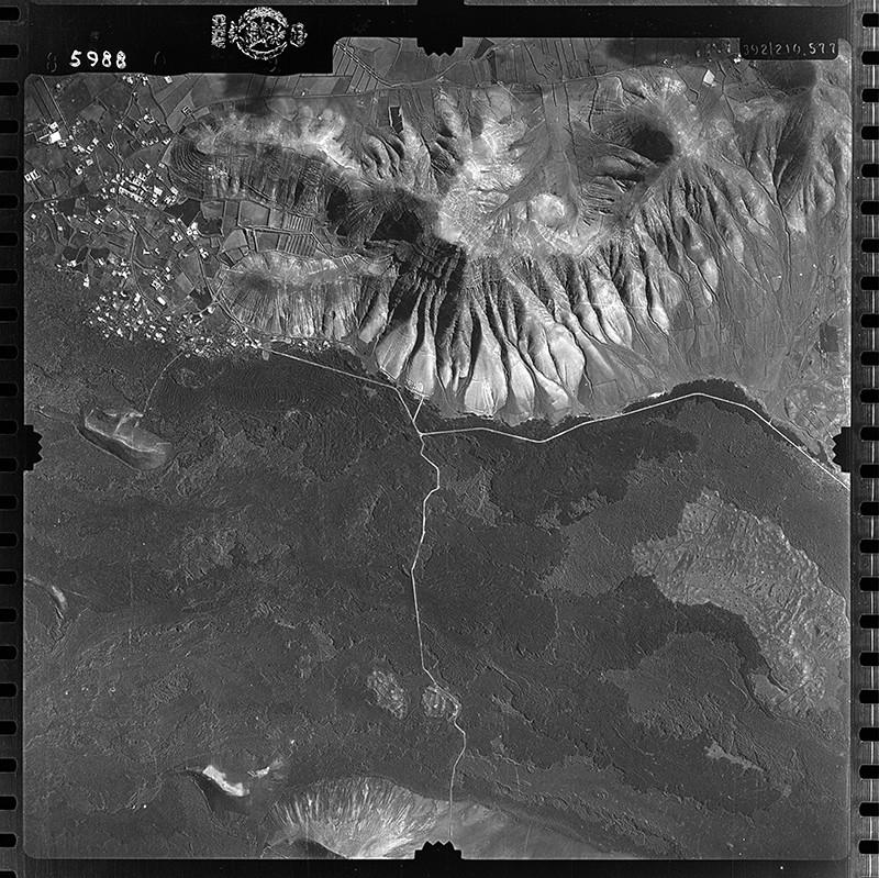 Fotografía aérea de Yaiza en 1954 III
