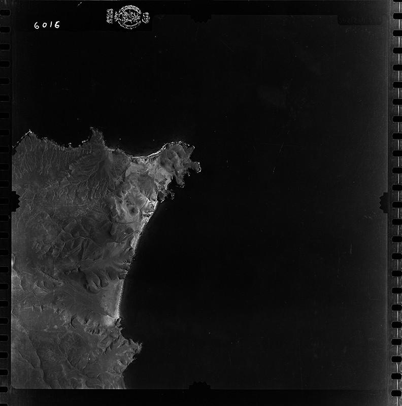 Fotografía aérea de Papagayo en 1954