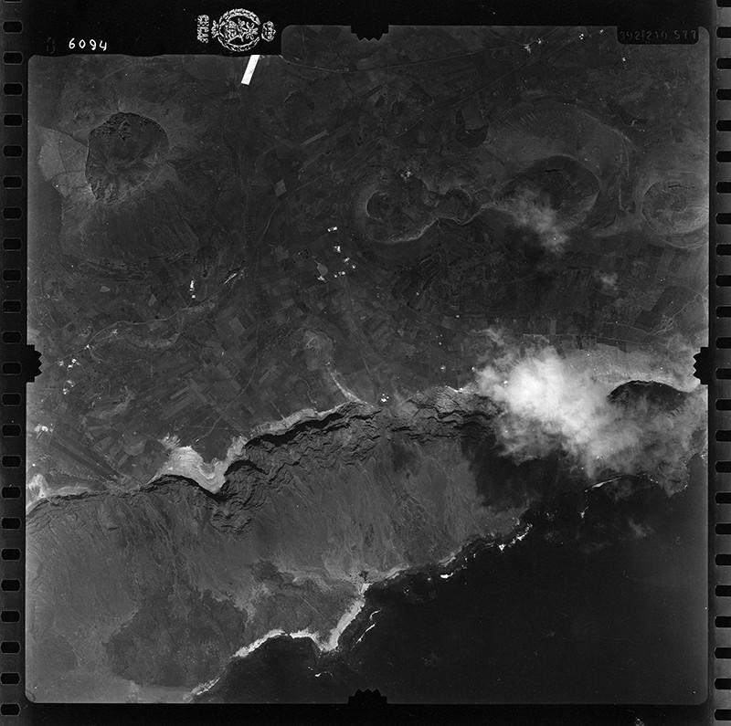 Fotografía aérea de Guinate en 1955