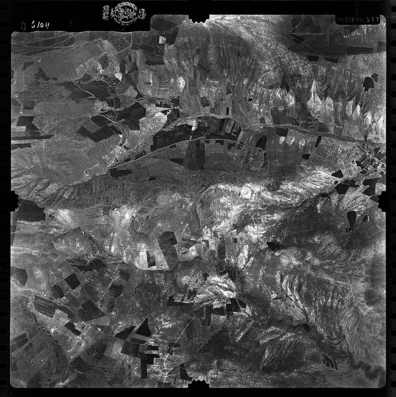 Fotografía aérea de Haría  en 1955 IV