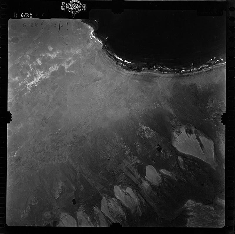Fotografía aérea de la Caleta de Famara en 1955 II