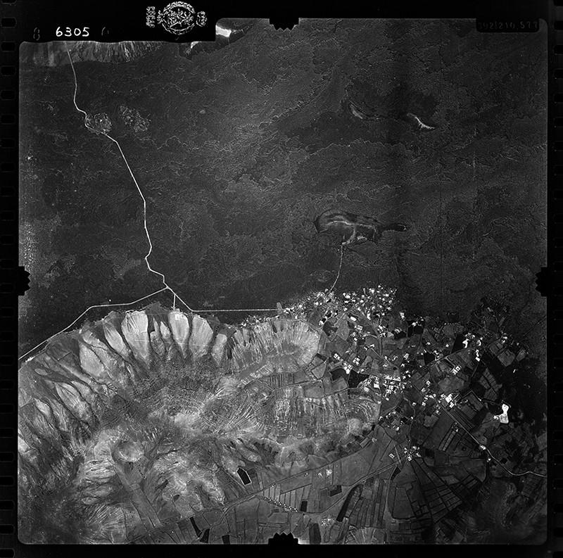 Fotografía aérea de Yaiza en 1955 II