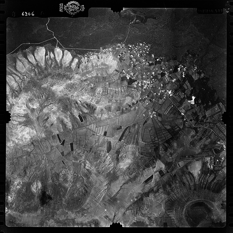 Fotografía aérea de Yaiza en 1955 III