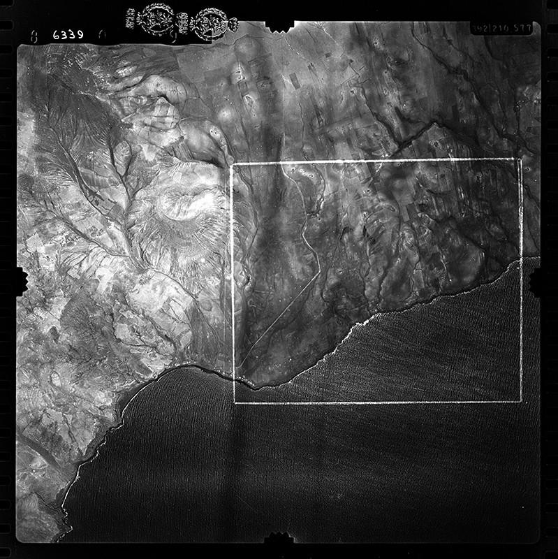 Fotografía aérea de Playa Quemada en 1955 III