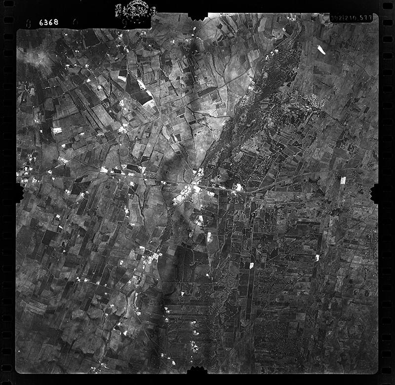 Fotografía aérea de Mácher en 1955