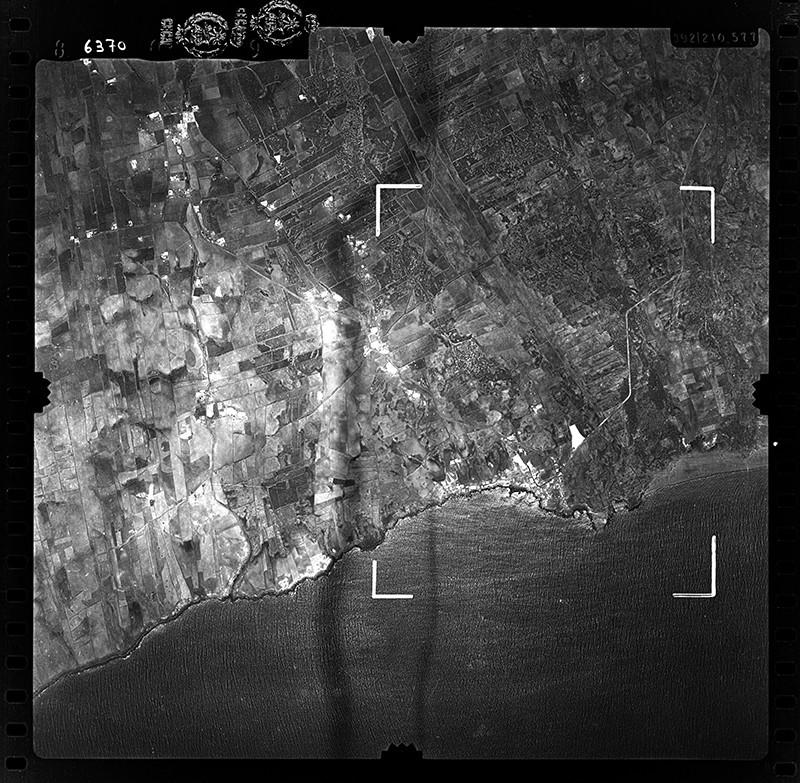 Fotografía aérea de la Tiñosa en 1955