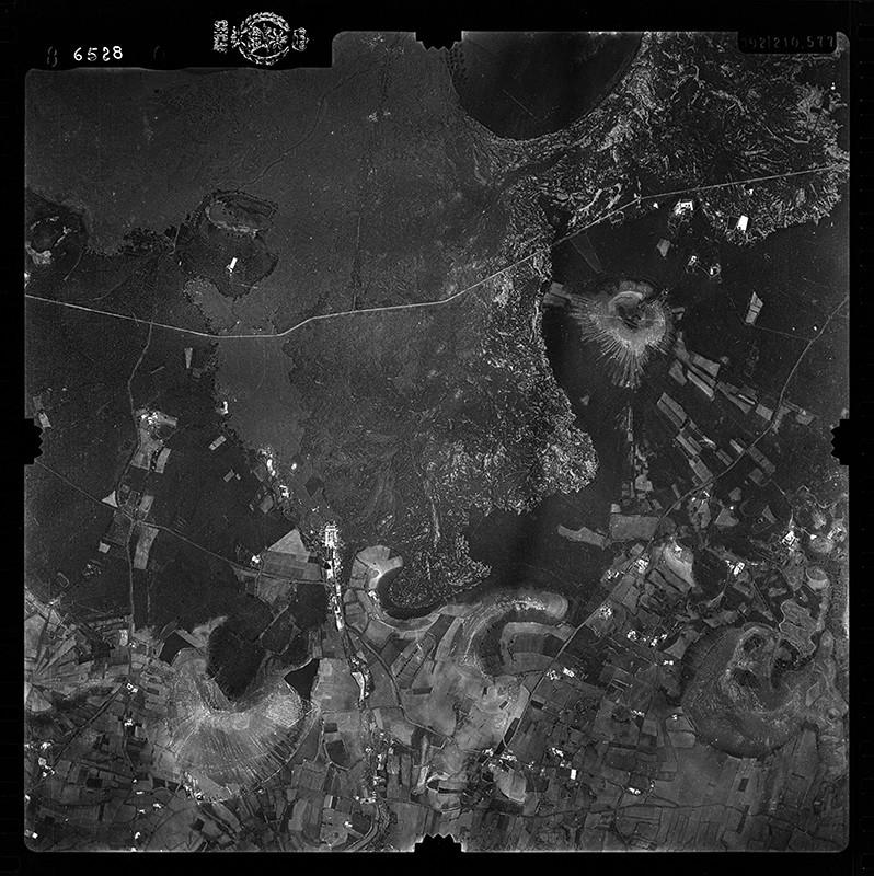 Fotografía aérea de Las Vegas de Tegoyo y Conil en 1956 I