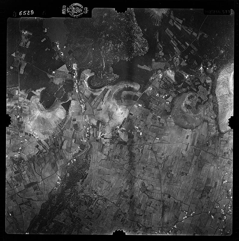 Fotografía aérea de Las Vegas de Tegoyo y Conil en 1956 II