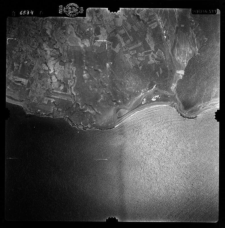 Fotografía aérea de Puerto del Carmen en 1956 II
