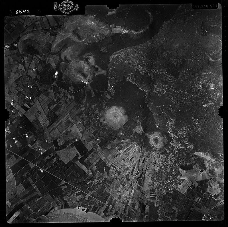 Fotografía aérea de Mancha Blanca en 1956