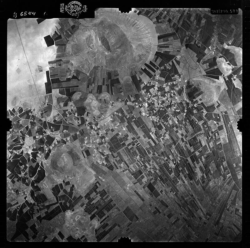 Fotografía aérea de Tinajo en 1956 I