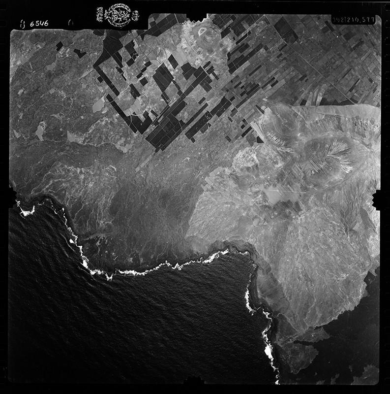Fotografía aérea de Teneza en 1956