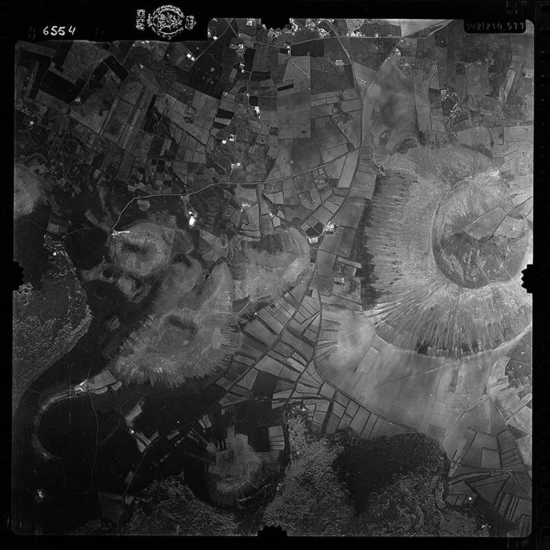 Fotografía aérea de La Vegueta en 1956 III