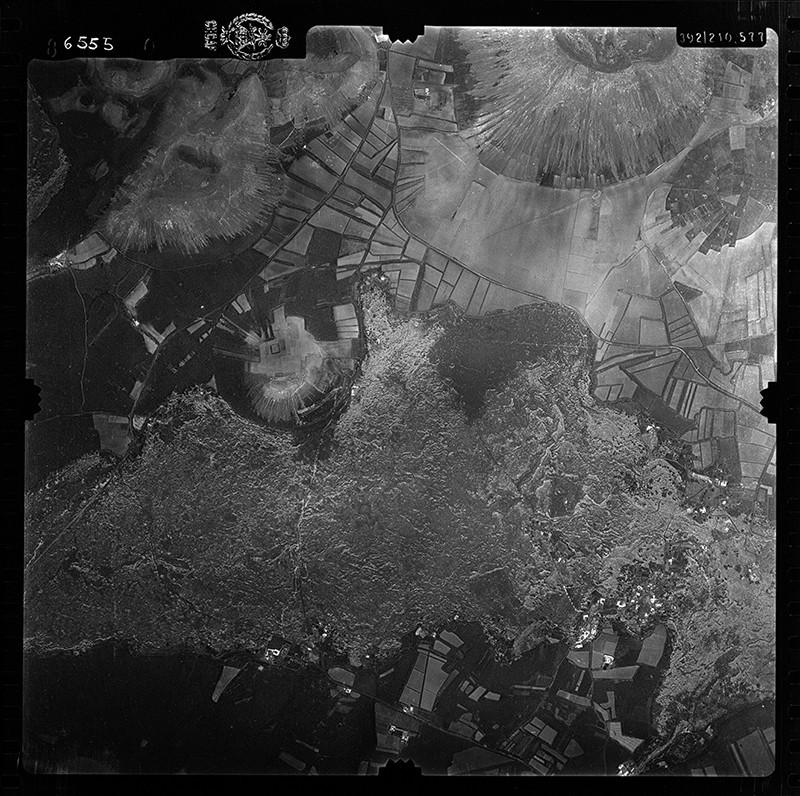 Fotografía aérea de La Florida en 1956