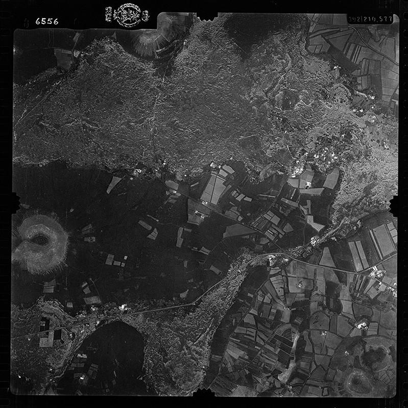 Fotografía aérea de El Islote en 1956