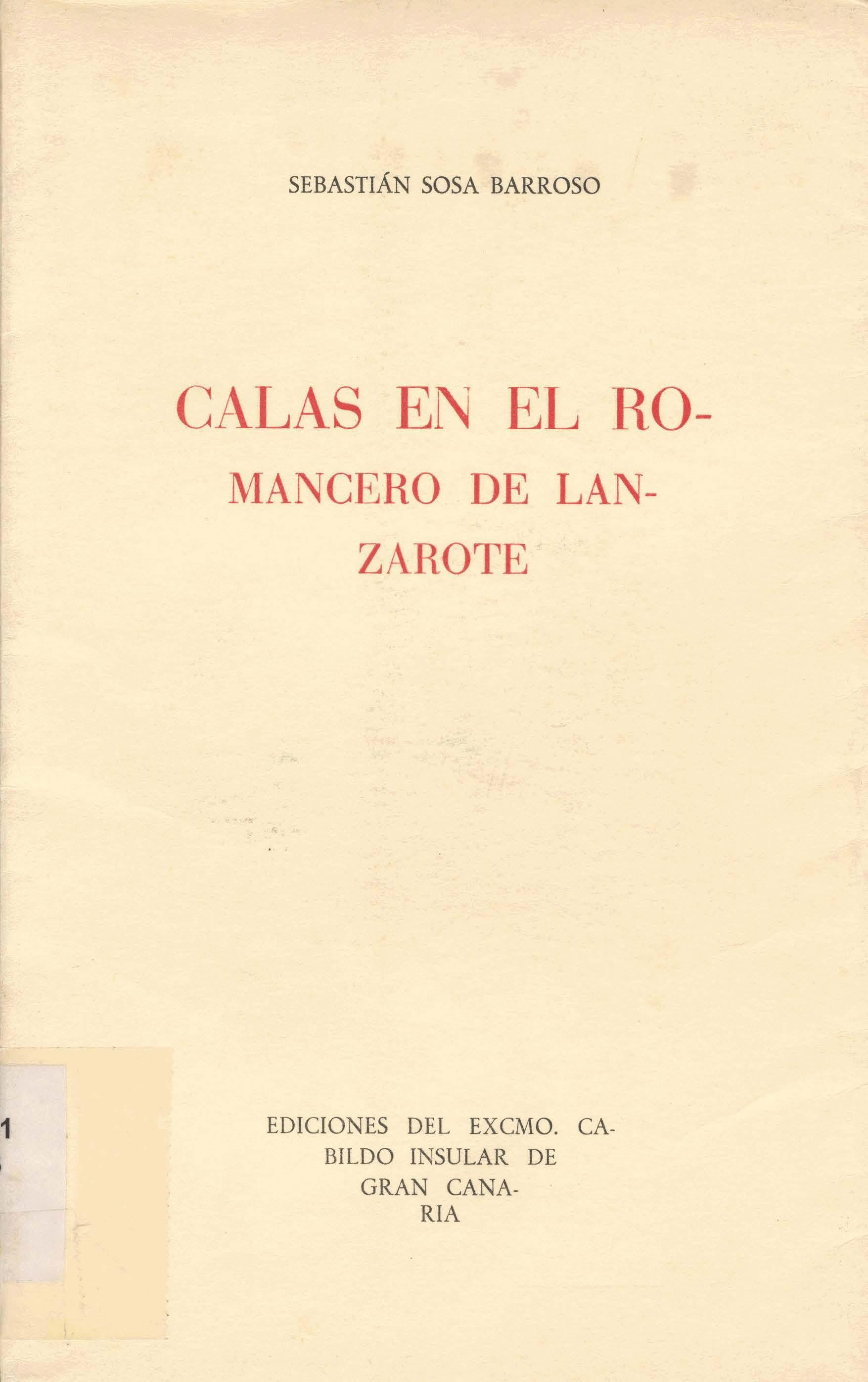 Calas en el romancero de Lanzarote