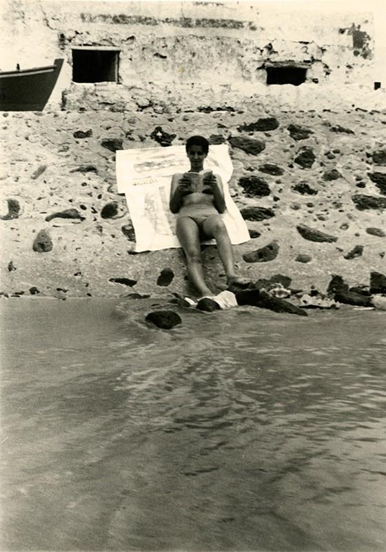Tomando el sol en Playa Blanca