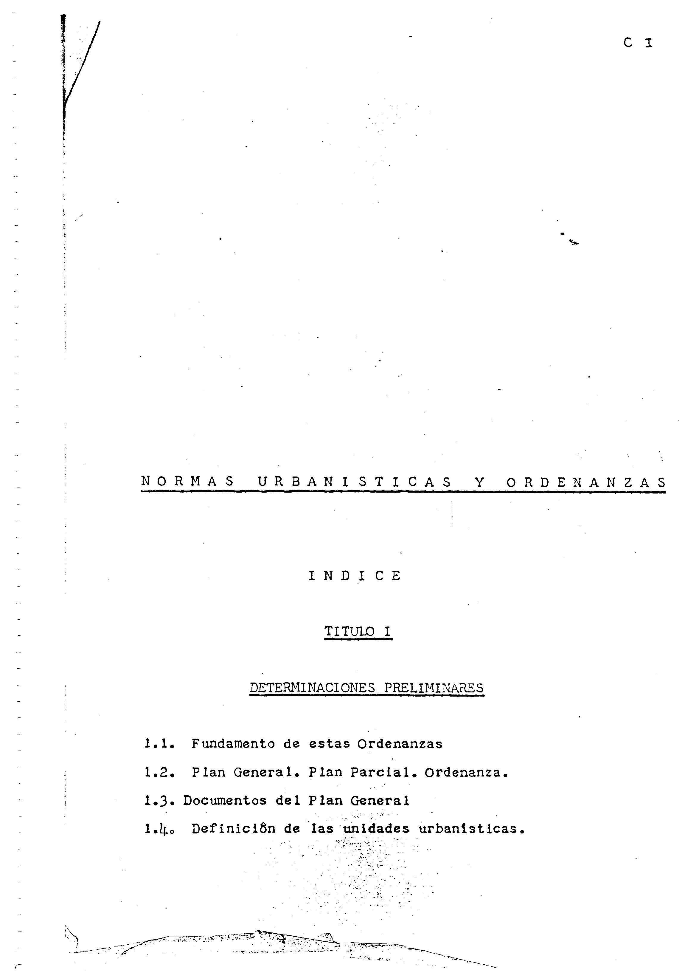 Normas urbanísticas y ordenanzas del Plan General de Arrecife de 1968