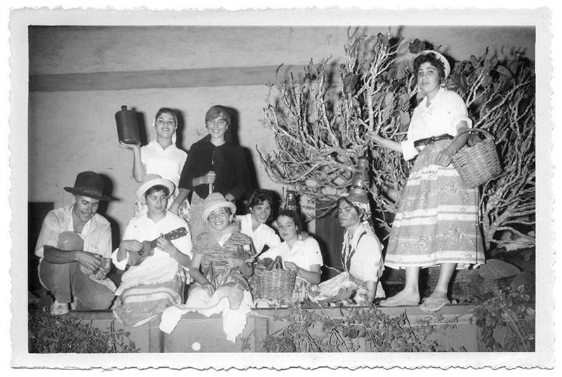 Carroza de las fiesta de Santa Rosa