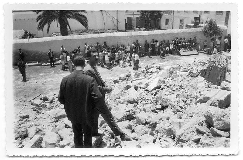 Escombros de la iglesial de Haría