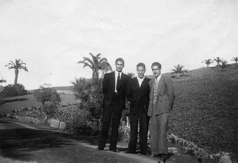 Daniel Díaz, Carlos Reguera y Gregorio Fernández en Haría