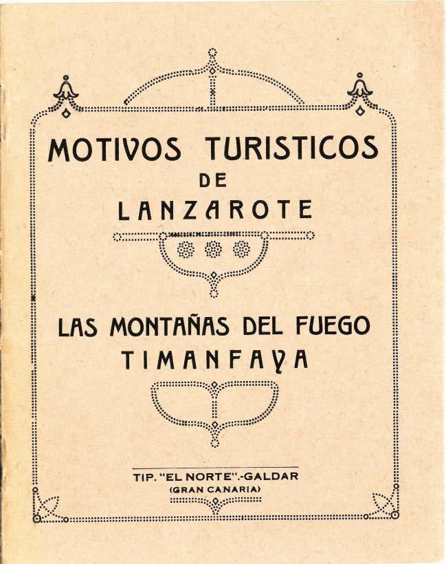 Motivos turísticos de Lanzarote: Las Montañas del Fuego y Timanfaya (primera edición)