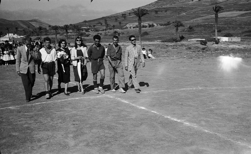 Inauguración del campo de Haría