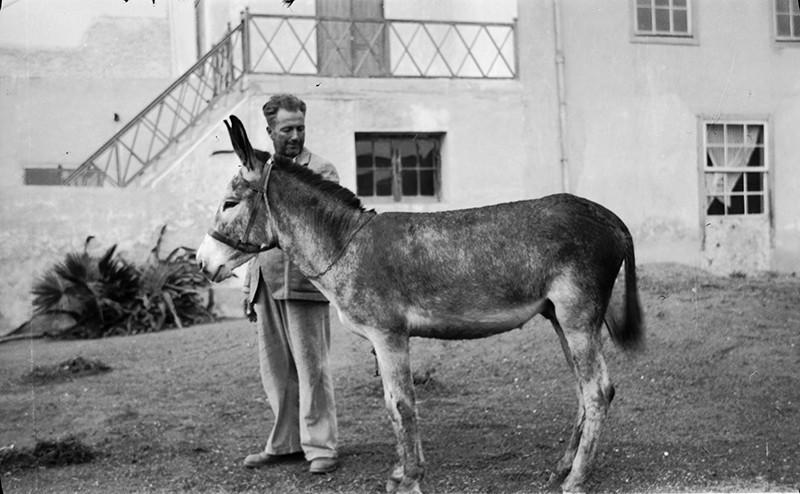 Señor con su burro