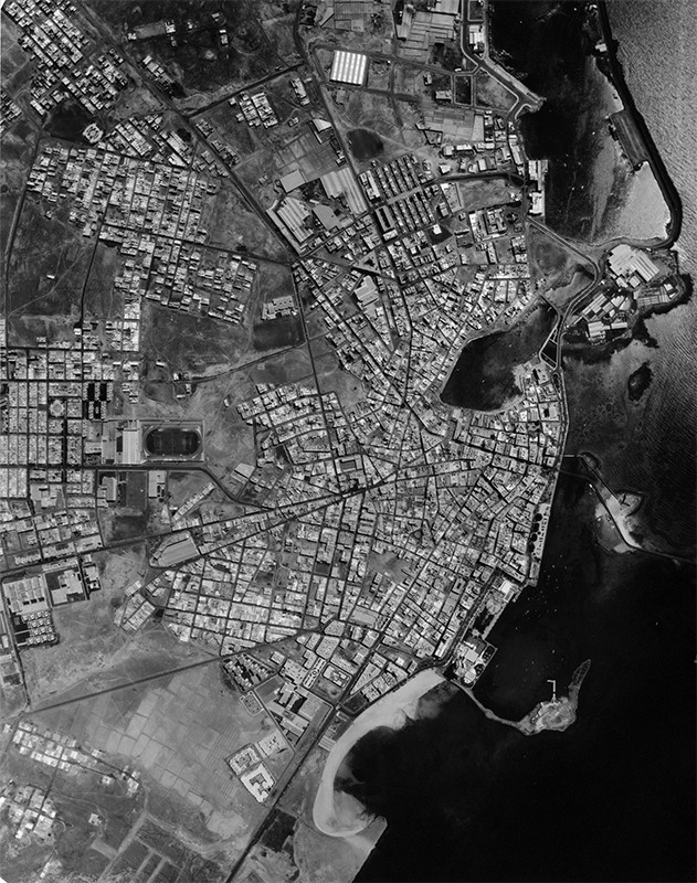 Fotografía aérea de Arrecife en 1986 I