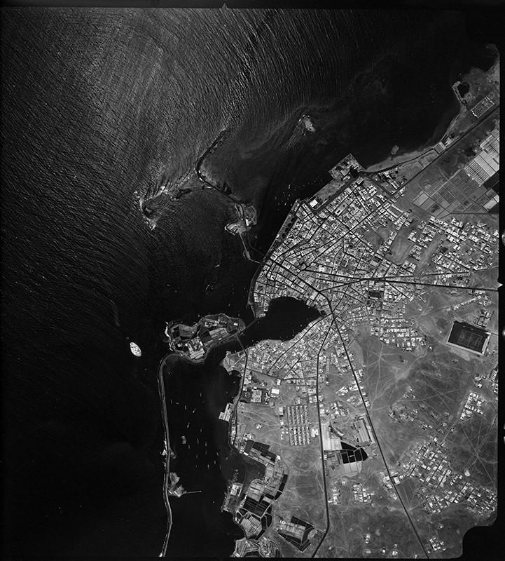 Fotografía aérea de Arrecife en 1968 I