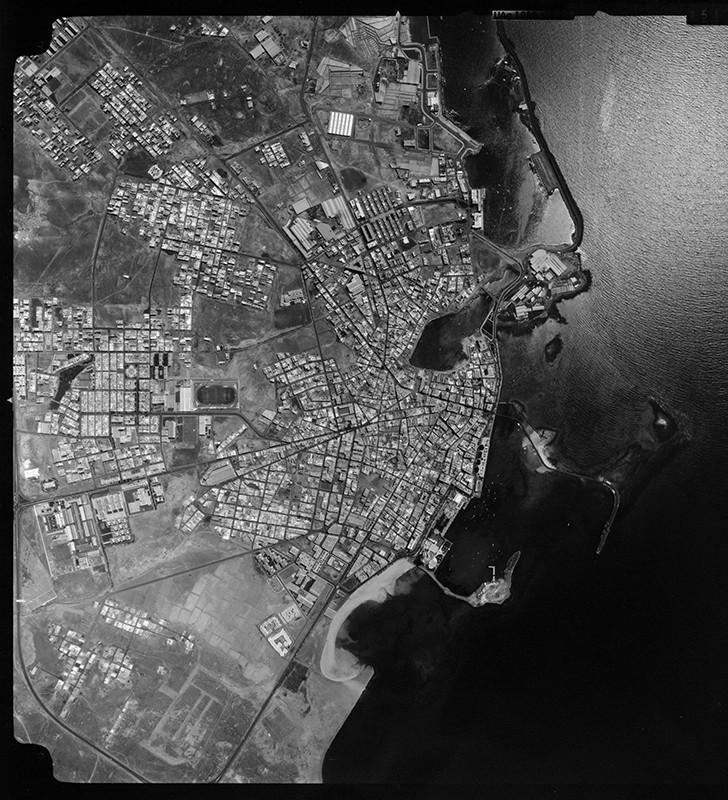 Fotografía aérea de Arrecife en 1986 II